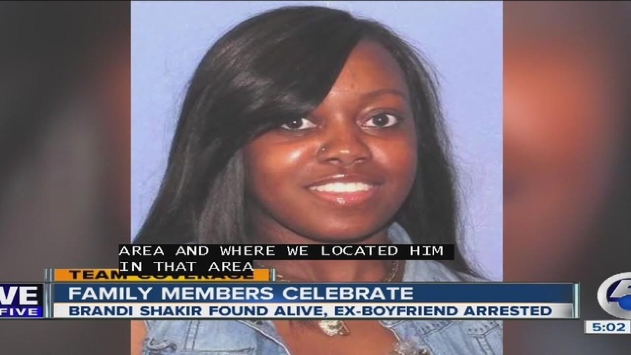 Brandi Shakir found, alleged abductor shot