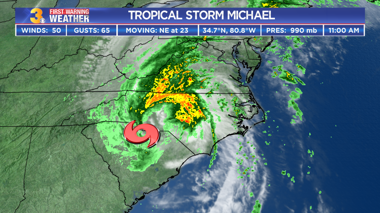 First Warning Forecast: Michael Moving Closer To Hampton Roads