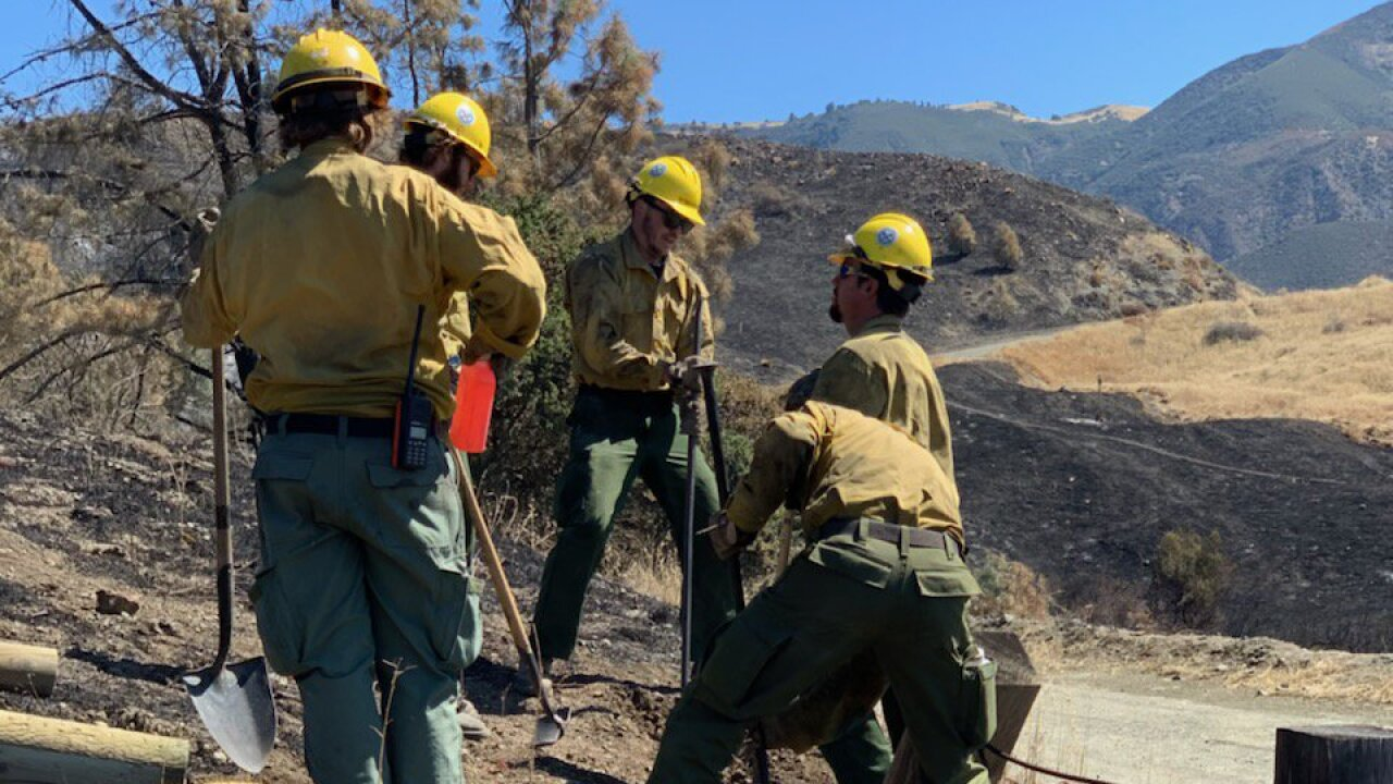 UPDATE: Containment on Range Fire in Santa Ynez Valley expected Sunday