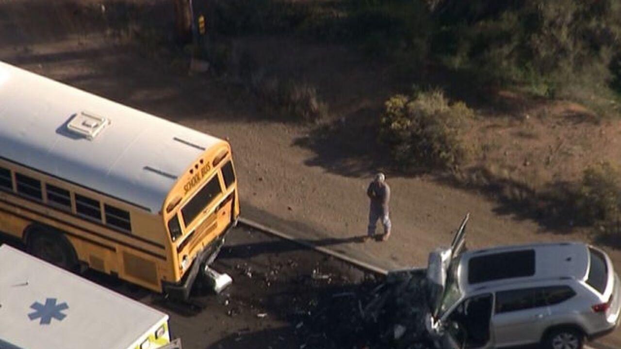 Several hurt in school bus crash in N Scottsdale