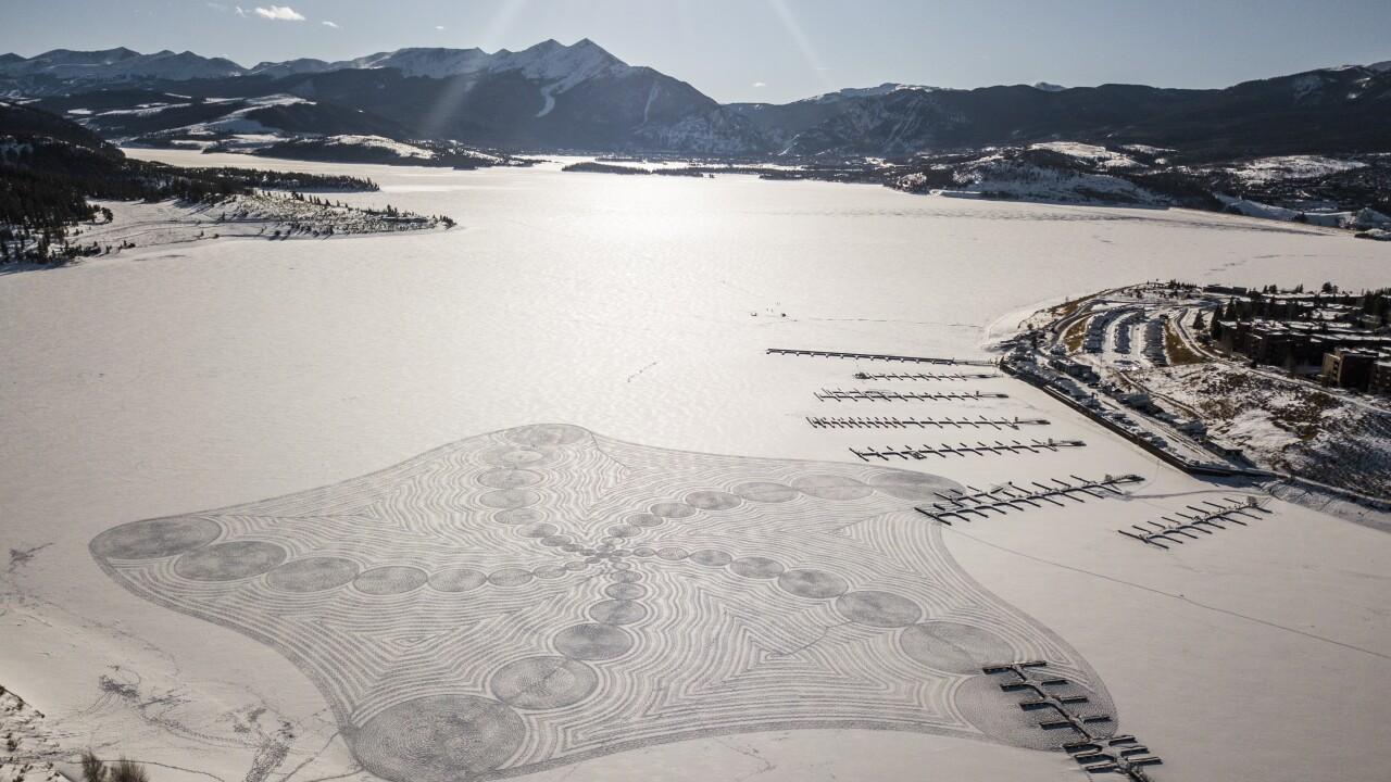 Massive snow drawings