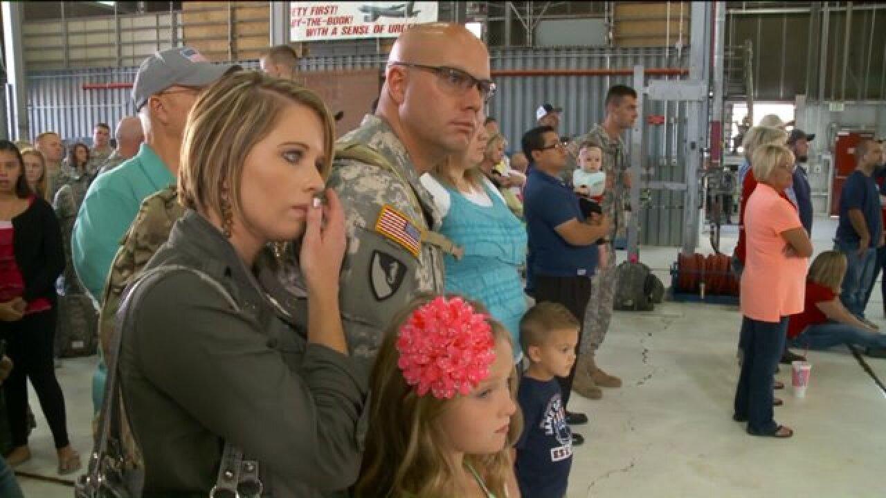 Loved ones bid farewell as members of Utah National Guard begindeployment