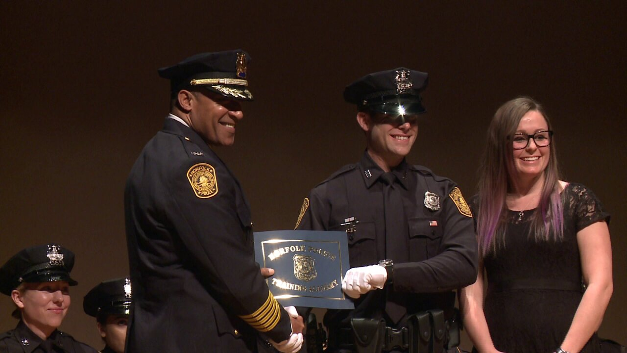 Taking it to the streets: Norfolk Police Academy recruits sworn in aftergraduation
