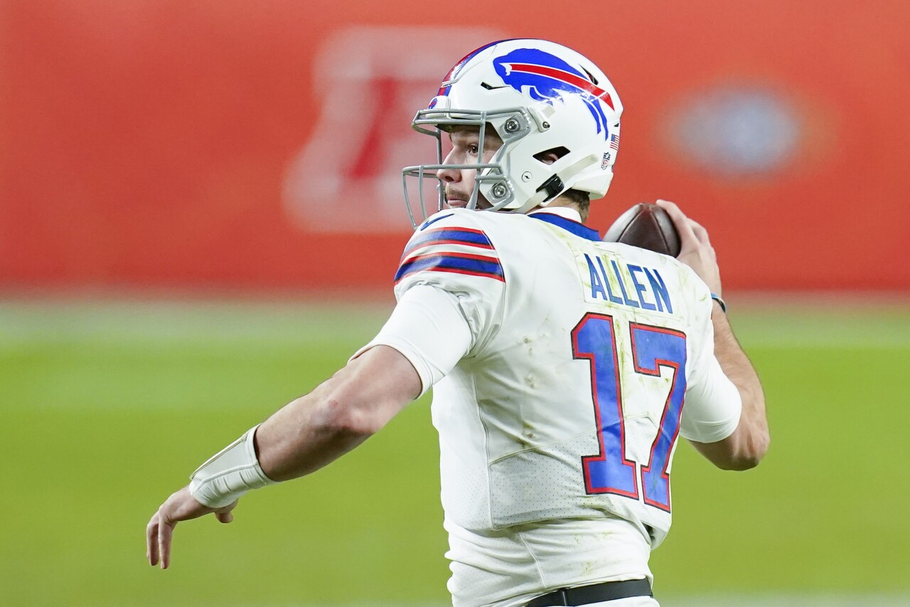 Buffalo Bills QB Josh Allen throws in 2020