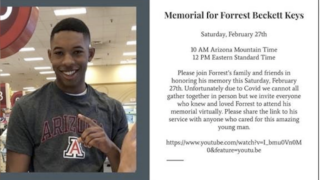 Virtual memorial for UArizona student inside campus parking garage