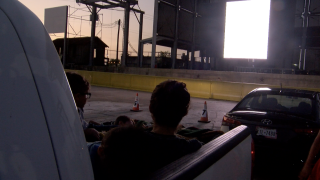 Drive-in movie at Concrete Street Amphitheater