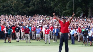 Tiger Woods a winner again for 1st time since 2013
