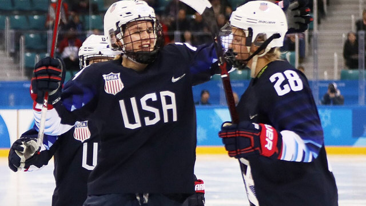 US women's hockey team back in gold medal game after 5-0 win over Finland
