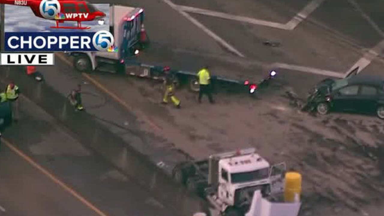 Turnpike southbound near Indiantown Road exit in Jupiter reopens after crash