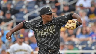 Kumar_Rocker_College World Series - Vanderbilt v Michigan - Game Two