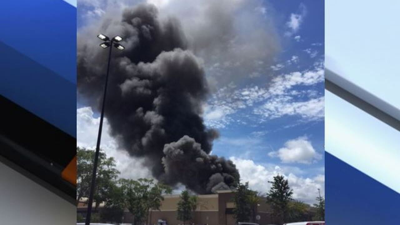 4-alarm fire at Largo Walmart, firefighters hurt