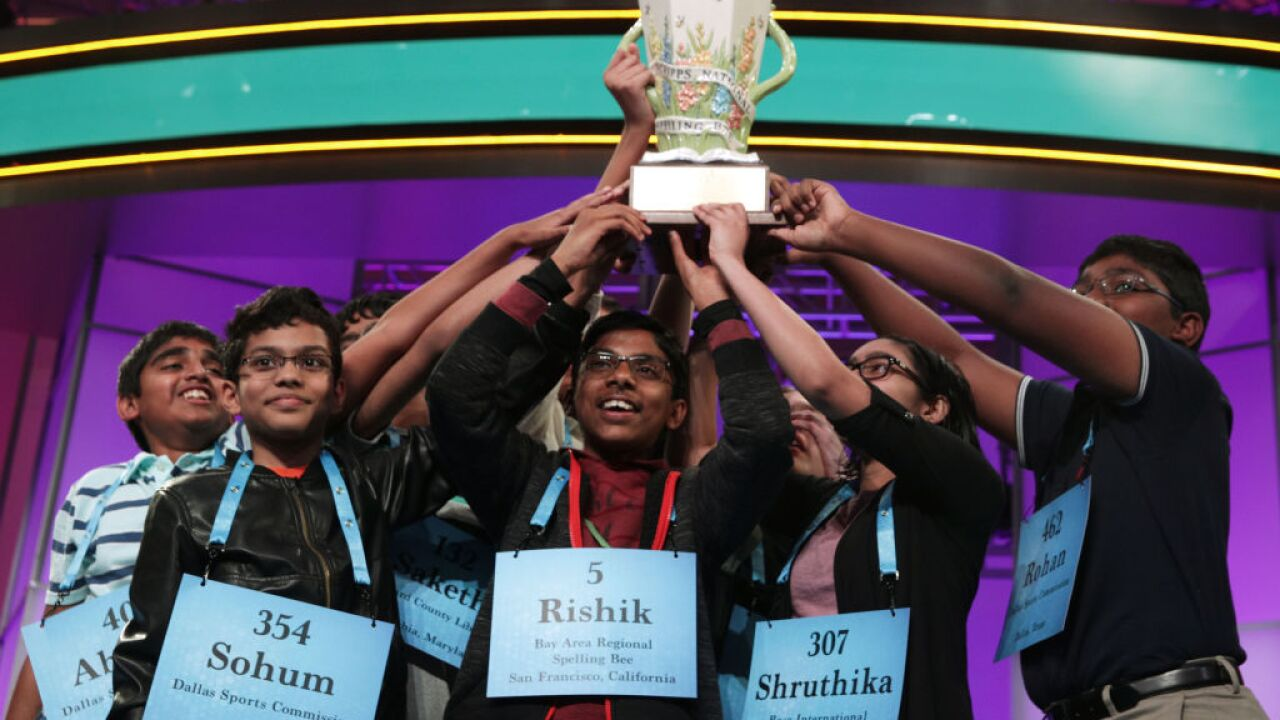 A historic win. The National Spelling Bee has not one — but 8 champions