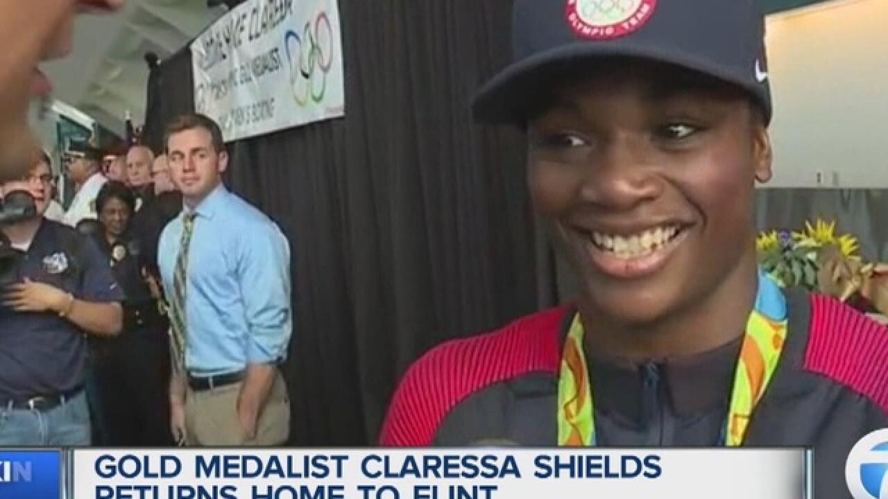 Gold medalist Claressa Shields returns to Flint