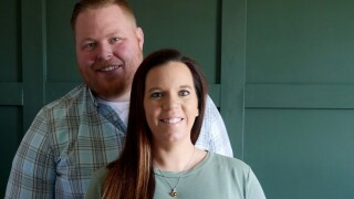 Rhea and her husband Zach prepare for the arrival of their son this summer