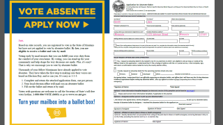 This is why Montanans are getting partially filled out applications for absentee ballots in the mail