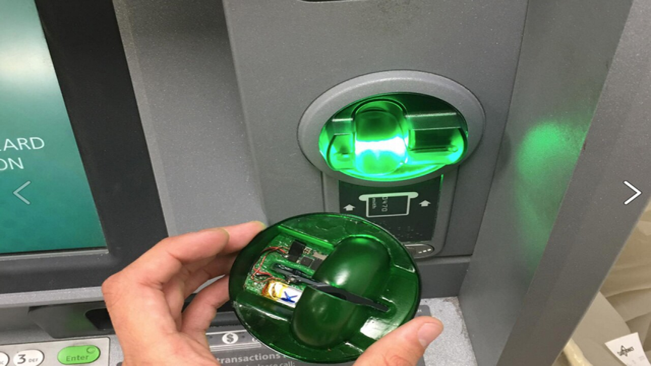 Customer finds card skimmer on ATM at Madison Heights 7/11