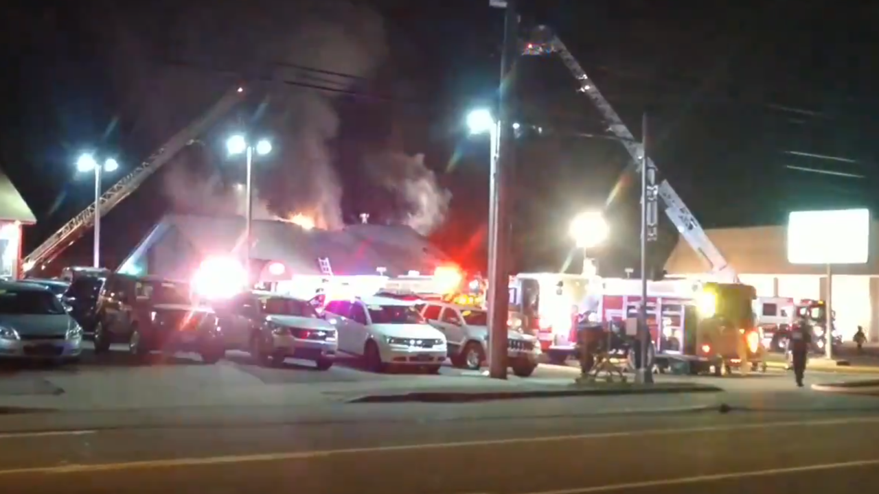 Multiple crews battling fire at Thai restaurant in Depew