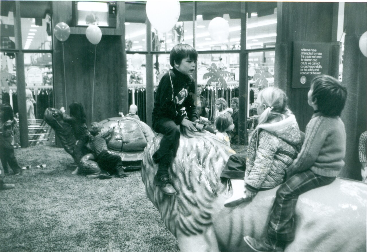 During the 1970s and 80s, Meijer had a playland for kids inside the store where there were animal statues.