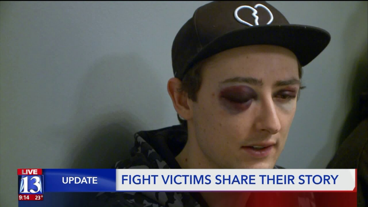 Dramatic street fight badly injures Salt Lake City man after he was kicked in the face