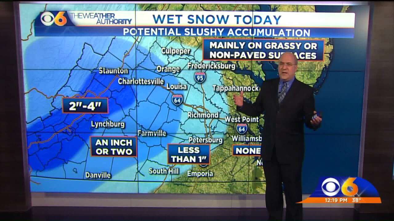 Richmond to see mix of wet snow, sleet, andrain