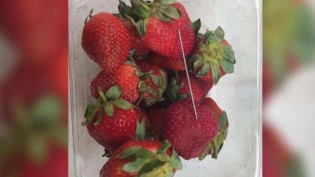 Woman allegedly spiked strawberries with needles for revenge