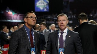 Kris Draper Steve Yzerman 2019 NHL Draft Red Wings