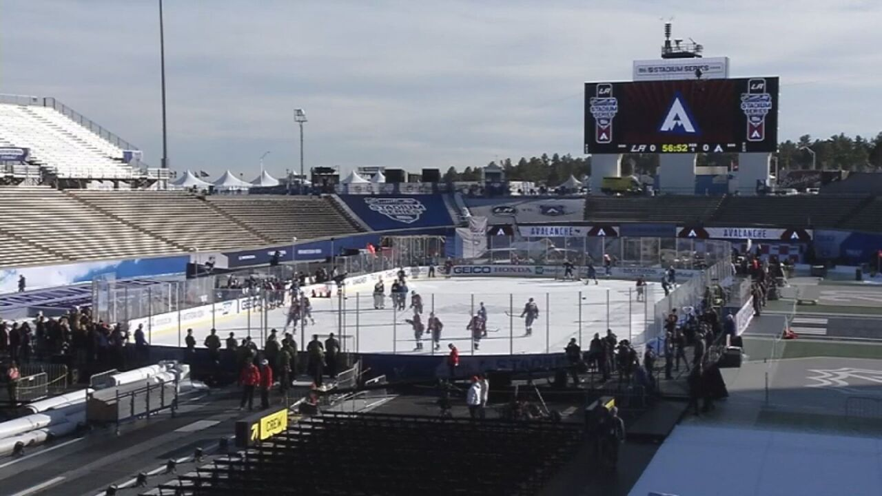 Stage is set at Falcon Stadium for 2020 NHL Stadium Series