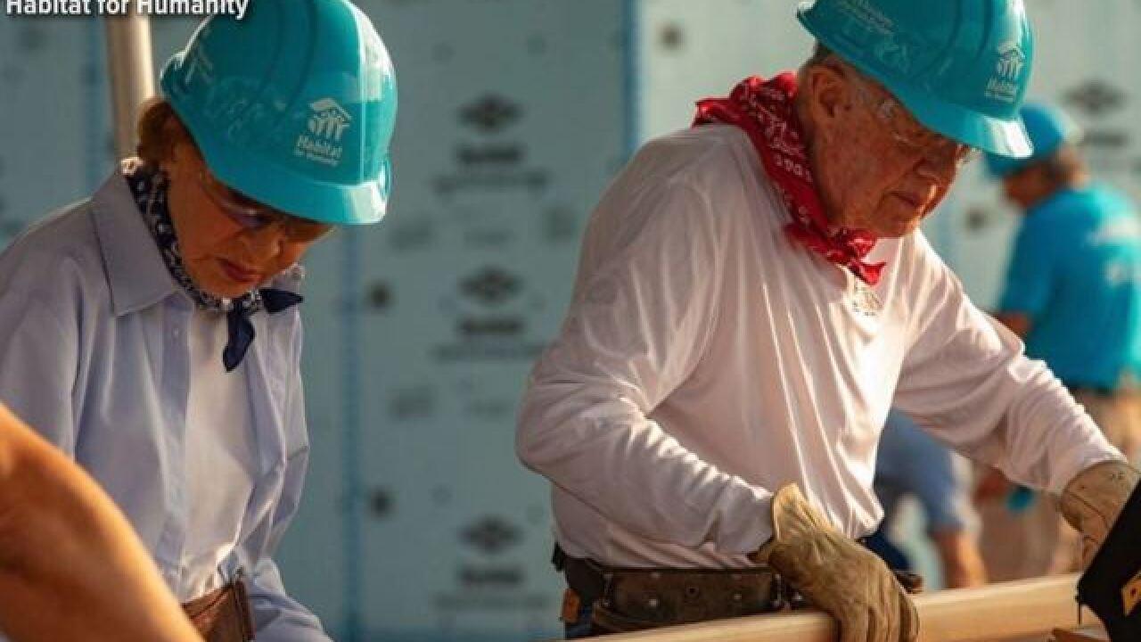 Letterman & Jimmy Carter launch Habitat project