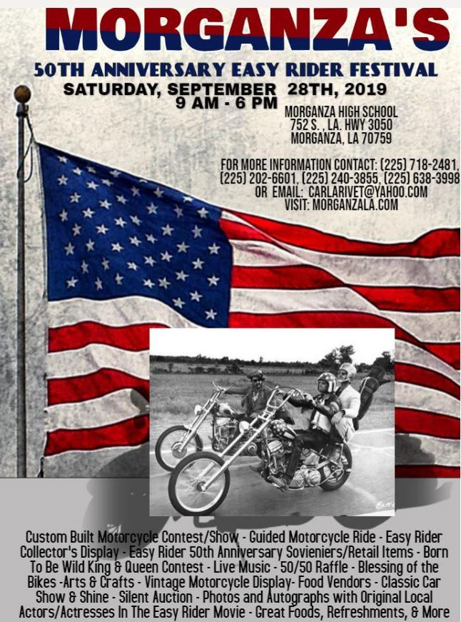 Two Louisiana parishes celeting 'Easy Rider' on walmart state maps, rand mcnally state maps, aol state maps, google state maps, bing state maps, brazil state maps, amazon state maps, microsoft state maps, europe state maps, mapquest state maps,