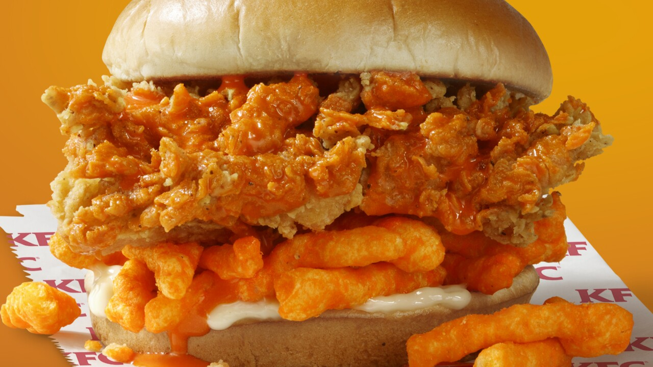 KFC is testing the Cheetos Sandwich in Richmond