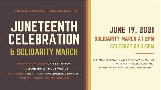 Juneteenth celebration and March
