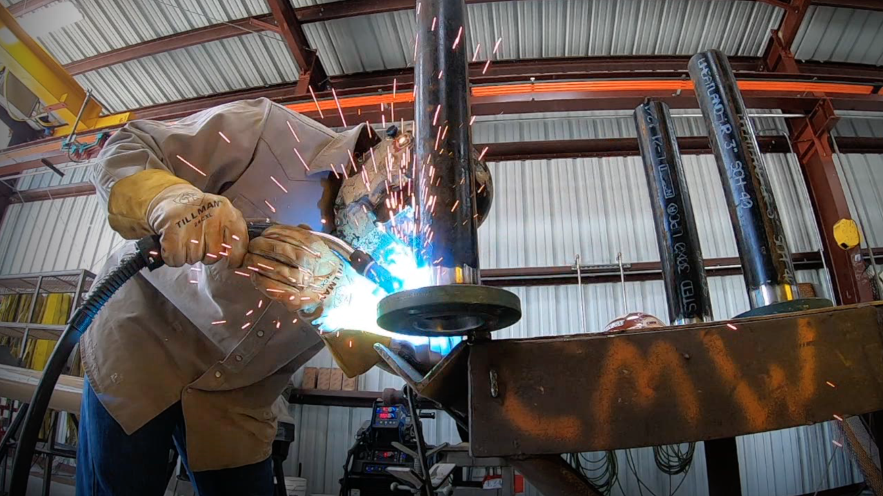 Welder at Central Maintenance and Welding