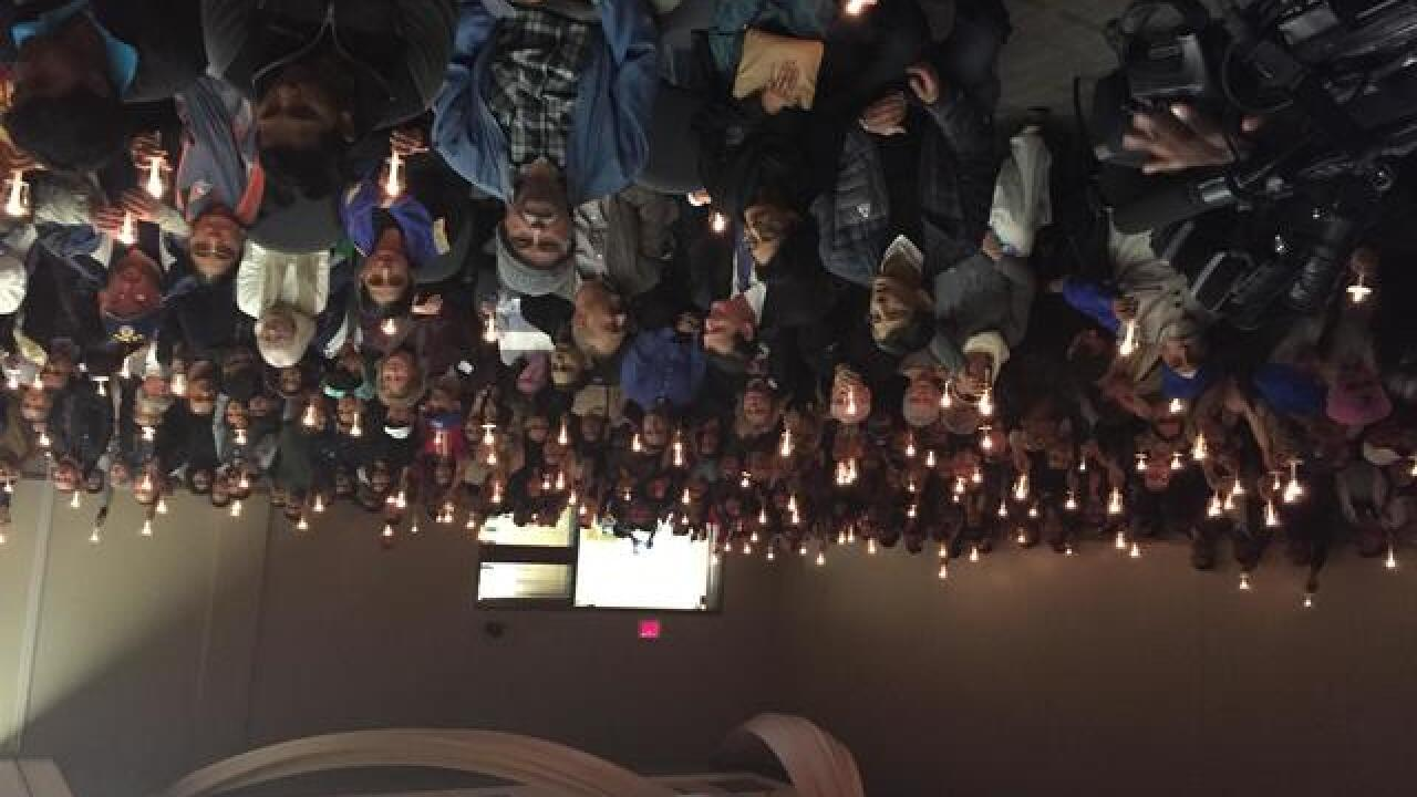 Vigil, march held for Olathe shooting victims