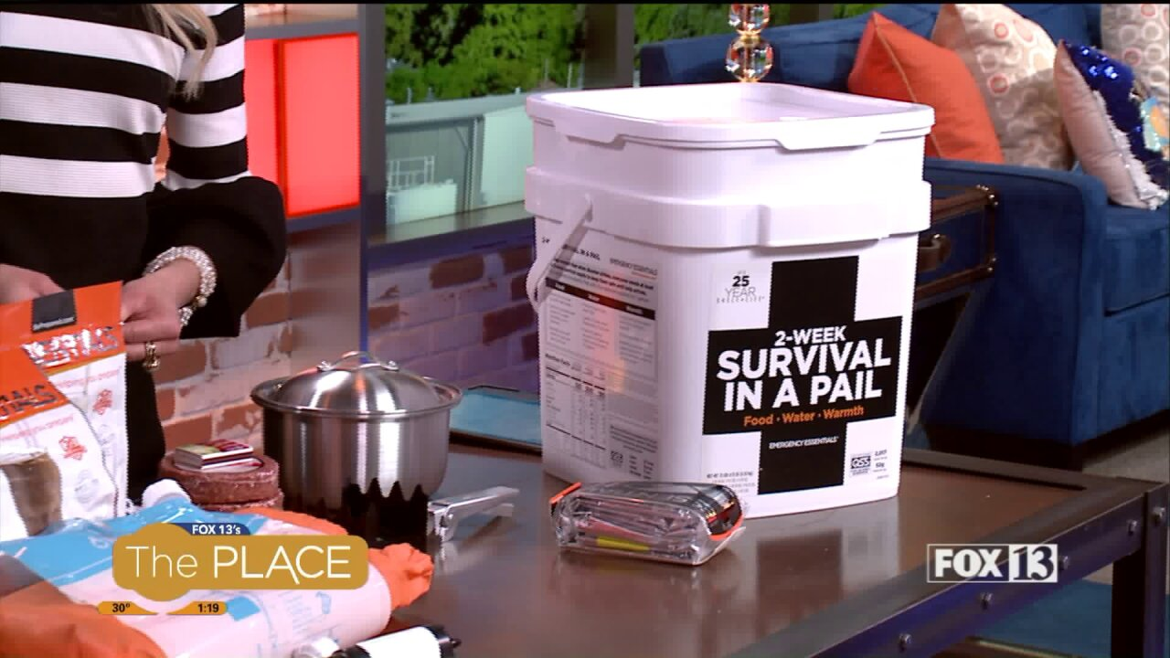 """How a """"Be Prepared Pail"""" could help save you in anemergency"""