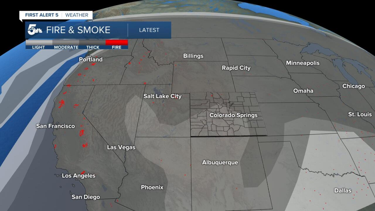 Current fire & smoke mapping