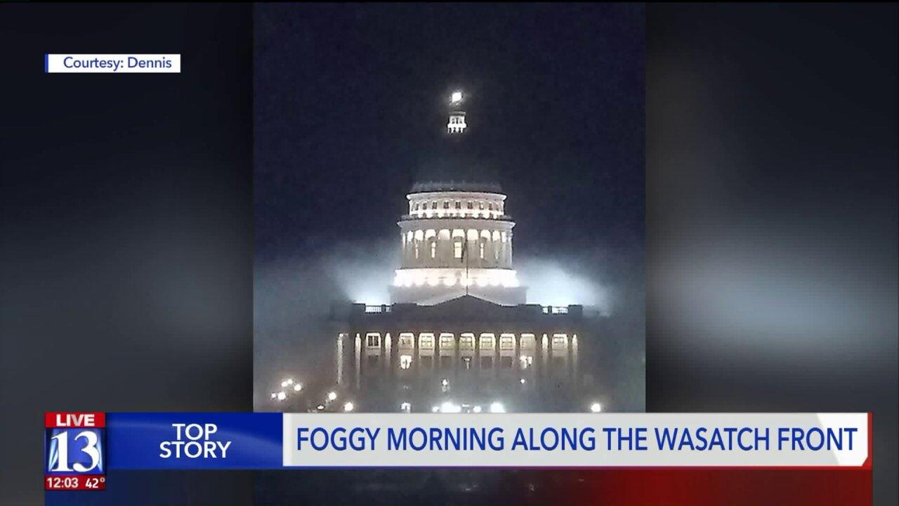 Fog descends on parts of northern Utah amid winter weatheradvisories