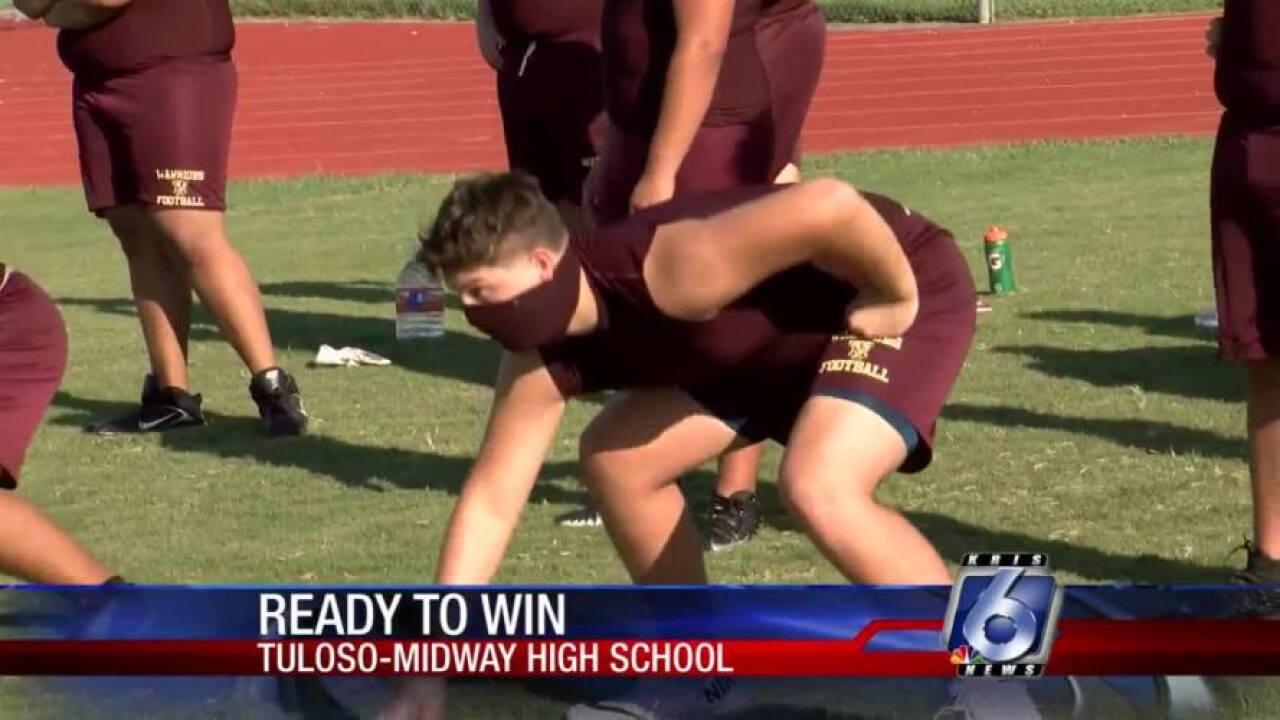 Tuloso-Midway-Warriors-football-practice