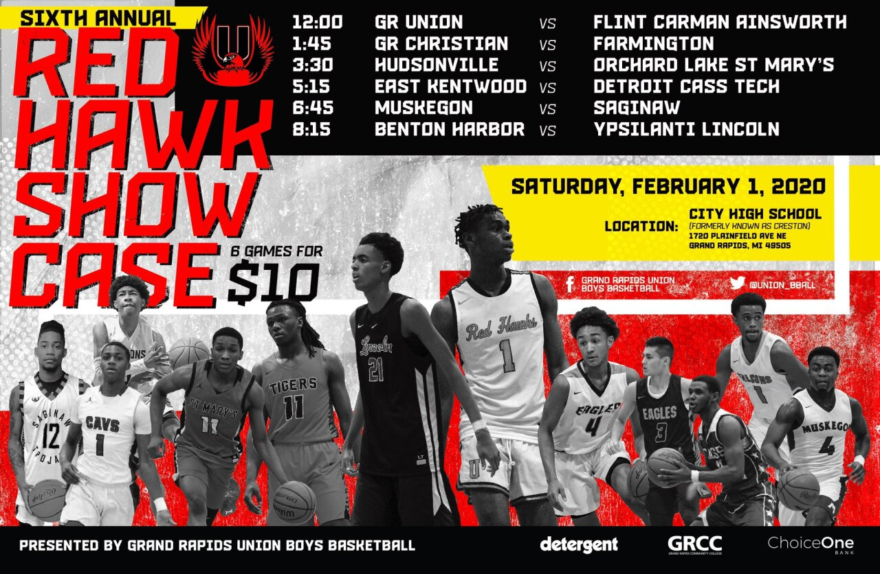 Sixth annual Red Hawk showcase lineup.