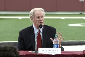 Florida State University President John Thrasher supports playing football, Aug. 11, 2020
