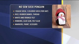 No Sew Sock Penguin