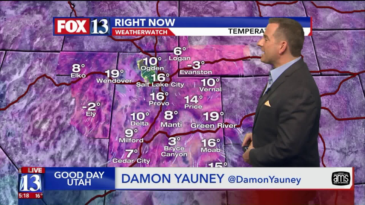 Single-digit temperatures for parts of Utah as record-breaking cold weatherarrives