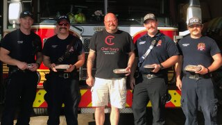 Chef Tony donates meals to firefighters