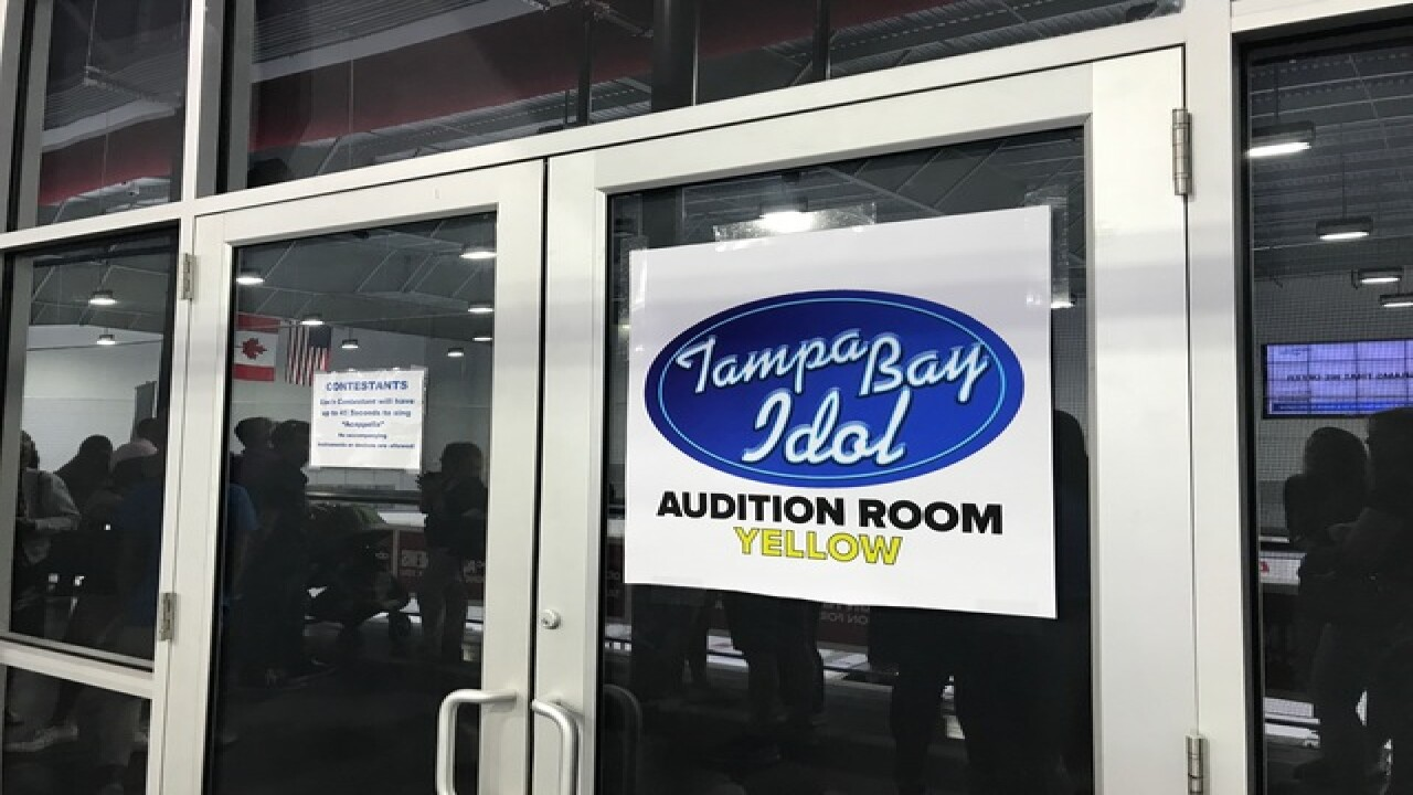 Golden ticket big prize at area Idol auditions