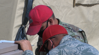 'Work HORSE' of the Air National Guard add 80 beds to help address overflow for Fort Harrison training