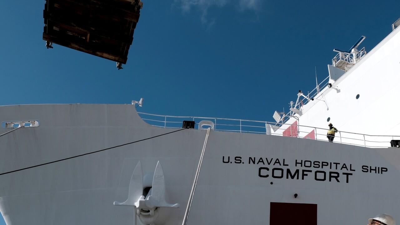 USNS Comfort (T-AH 20) Prepares for Deployment