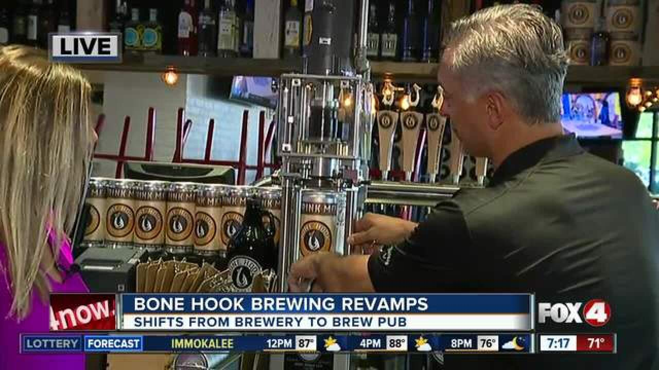 Bone Hook Brewery will begin serving food