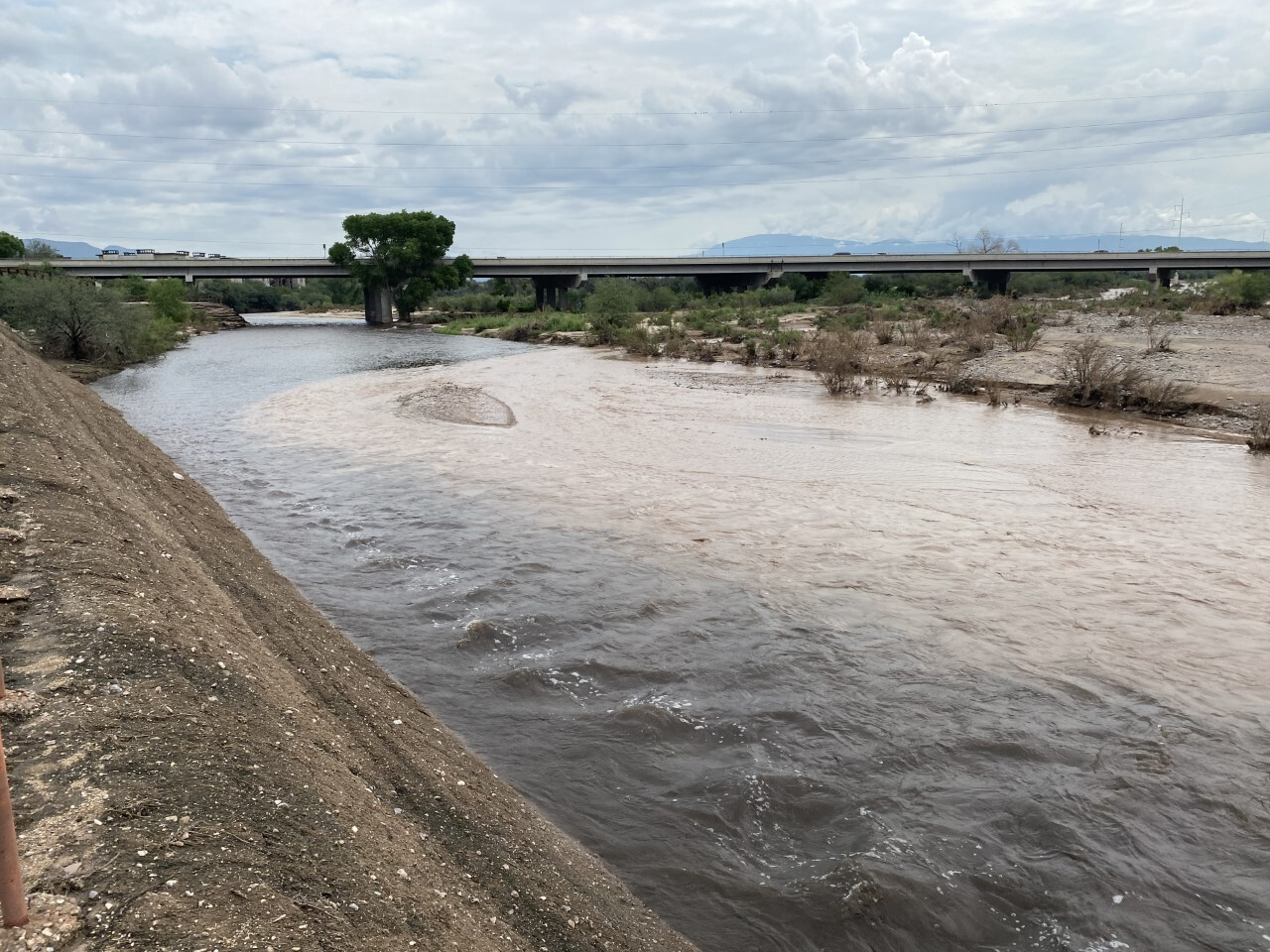 Pantano Wash and Tanque Verde Wash converge to form the Rillito River