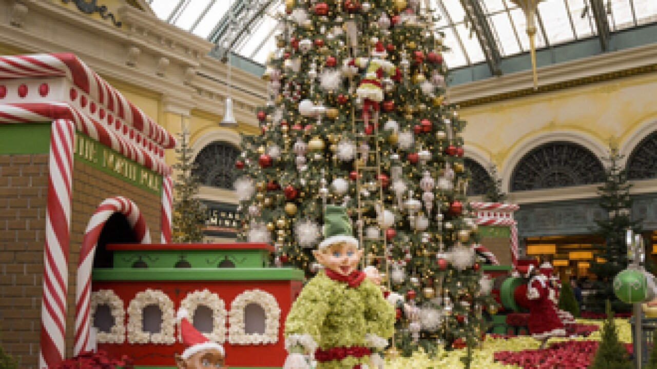 Bellagio Conservatory holiday display now open
