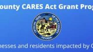 Nye county cares act grant program logo