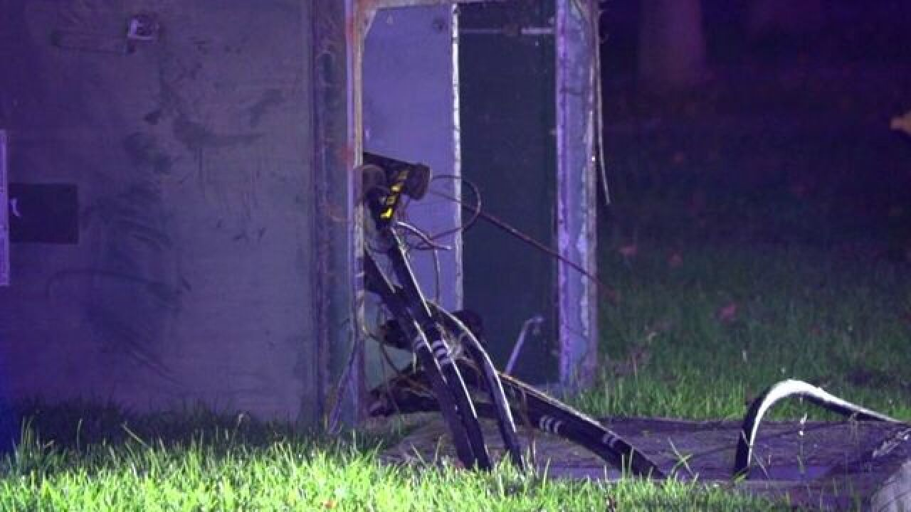 Hit-run driver knocks out power to thousands